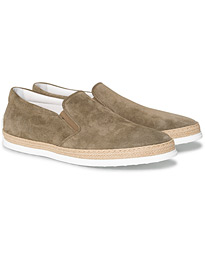 Tod's Slipper Loafer Taupe Suede