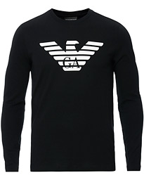 Emporio Armani Eagle Long Sleeve Tee Black