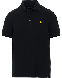 Plain Pique Polo Shirt Jet Black