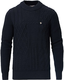 Morris Bogard Cable Knit Old Blue