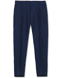 Tiger of Sweden Cone Linen Suit Trousers Midnight Blue