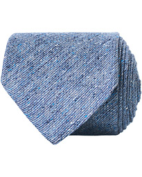 Amanda Christensen Cotton/Linen/Silk Bourette 8 cm Tie Sky Blue