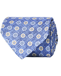 Amanda Christensen Silk Oxford Printed 8 cm Tie Navy