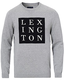 Lexington Luis Knitted Logo Sweater Grey Melange