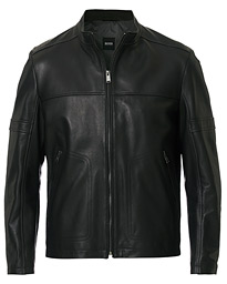 BOSS Nidan Leather Jacket Black