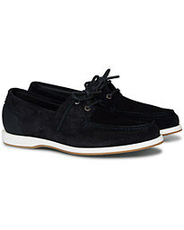 BOSS Harbour Suede Boat Shoe Dark Blue