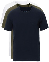 BOSS 3-Pack Crew Neck Tee White/Navy/Army