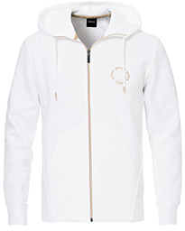 BOSS Athleisure Saggy Circle Full-Zip Hoodie White/Gold