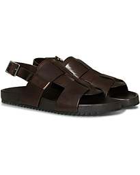 Wiley Sandal Brown Hand Painted