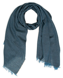 Begg & Co Fiji Cotton/Linen Scarf Denim Charcoal