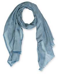 Begg & Co Wispy Cashmere Scarf Pale Denim