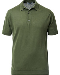 John Smedley Adrian Slim Fit Sea Island Polo Sepal Green
