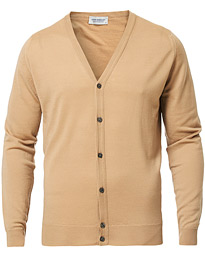 John Smedley Petworth Merino Cardigan Light Camel