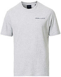 Henri Lloyd RWR Backprint Crew Neck Tee Grey Melange