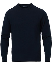 Hackett Wool/Silk/Cashmere Crew Neck Navy