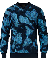 PS Paul Smith Pattern Cotton Sweater Navy