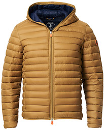 Save The Duck Lightweight Padded Hooded Jacket Honey Brown