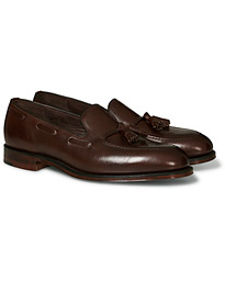 Russell Tassel Loafer Dark Brown Calf