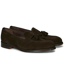Loake 1880 Russell Tassel Loafer Chocolate Brown Suede