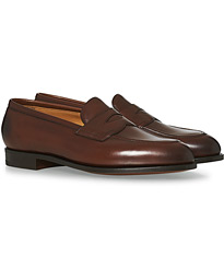 Edward Green Piccadilly Penny Loafer Dark Oak Antique