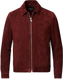 Oscar Jacobson Logner Suede Jacket Rust Red