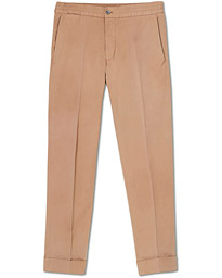 Oscar Jacobson Nolan Cotton Drawstring Trousers Beige