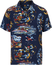 Polo Ralph Lauren Printed 007 Thunderball Short Sleeve Shirt Navy