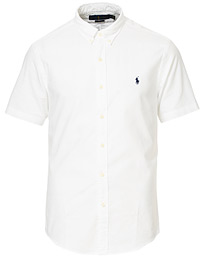 Polo Ralph Lauren Slim Fit Short Sleeve Oxford Shirt White