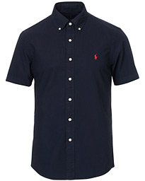 Polo Ralph Lauren Slim Fit Short Sleeve Oxford Shirt RL Navy