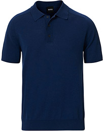 BOSS Ipalo Knitted Polo Navy
