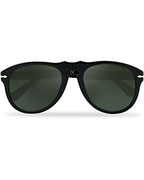 Persol 0PO649 Sunglasses Black/Crystal Green