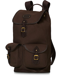 Chapman Bags Large Border Canvas Rucksack Brown