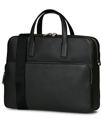 BOSS Crosstown Computer Leather Bag Black
