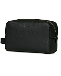 BOSS Crosstown Leather Washbag Black