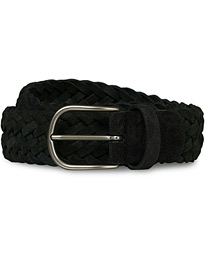 Anderson's Braided Suede 3,5 cm Belt Black