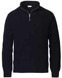 Harrod Zip Wool/Cashmere Sweater Navy