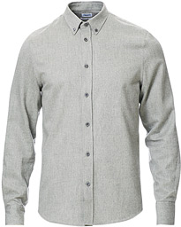 Lewis Flannel Shirt Grey Melange