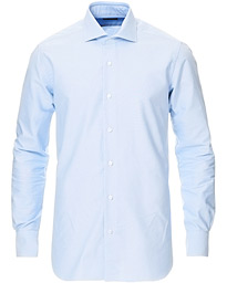 Culto Slim Fit Washed Oxford Shirt Light Blue
