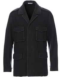 Wool Dyed Fieldjacket Washed Black