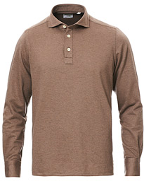 Orlando Cotton/Cashmere Polo Brown