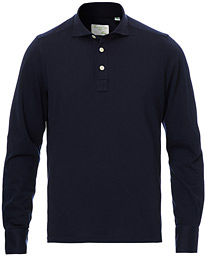 Orlando Cotton/Cashmere Polo Navy