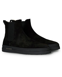 Cloyd Shearling Chelsea Boot Black Suede