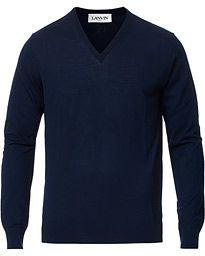 Lanvin V-Neck Merino Navy Blue