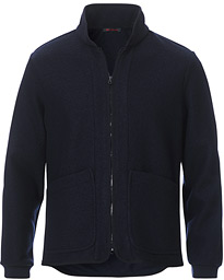 Aspen Jersey Wool Fleece Jacket Navy