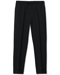 Tiger of Sweden Travin Drawstring Wool/Mohair Trousers Black