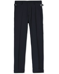 Tretton Side Adjusters Pleated Trousers Navy Stripe
