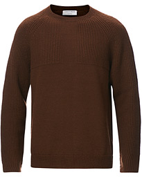 Yogi Ribbed Crew Neck Golden Brown