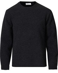 Rennet Wool Crew Neck Pullover Charcoal Grey