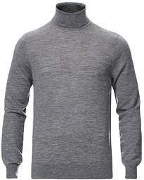 Tiger of Sweden Neville Extra Fine Merino Polo Light Grey Melange