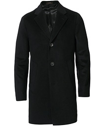Storvik Wool/Cashmere Coat Black